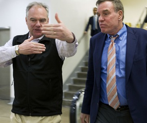 Virginia Democratic Sens. Tim Kaine (left) and Mark Warner led efforts to write the letter.