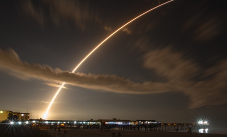 An Atlas 5 rocket launch on January 20, 2015, at Cape Canaveral, Florida.