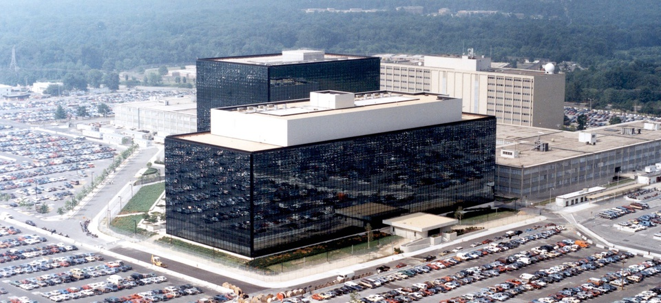Headquarters of the Headquarters of the National Security Agency at Fort Meade, Maryland.