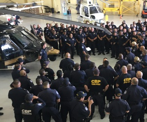 CBP Office of Field Operations Personnel are staged at the Air and Marine Operations Branch in Hammond, Louisiana, ready to help during the aftermath of Hurricane Irma on Sept. 10, 2017.
