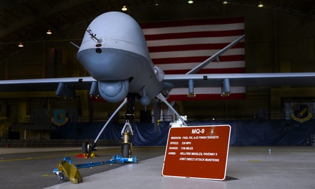 The MQ-9 Reaper, Joint Base Elmendorf-Richardson, Alaska.