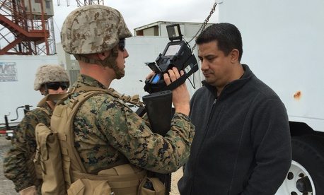 Marines conduct a field user evaluation for the Identity Dominance System-Marine Corps, or IDS-MC, in Dahlgren, Virginia. In September, Marine Corps Systems Command completed fielding of the IDS-MC, which is a new biometrics system .