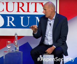 Director of National Intelligence Dan Coats is interviewed by NBC's Andrea Mitchell on stage at the Aspen Security Forum July 19, 2018.