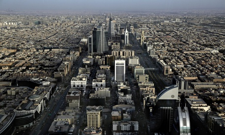 This June 23, 2018 photo, shows a general view of Riyadh, Saudi Arabia.