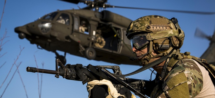 Special Tactics Training Squadron Airmen from the 24th Special Operations Wing fast rope from a U.S. Army UH-60 Black Hawk at Hurlburt Field, Fla., May 4, 2016.