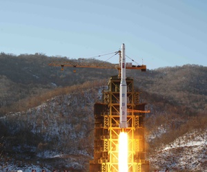In this Dec. 12, 2012 photo released by Korean Central News Agency, North Korea's Unha-3 rocket lifts off from the Sohae launch pad in Tongchang-ri, North Korea.
