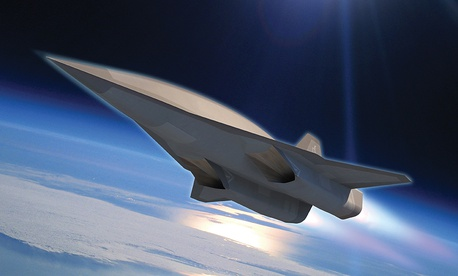 A concept image of a Lockheed Martin Skunk Works hypersonic design.