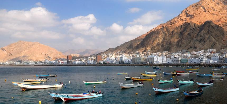 The fishing town of Al Mukalla in Yemen.