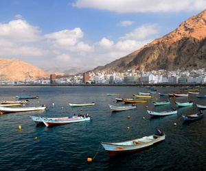 The fishing town of Al Mukalla in Yemen.