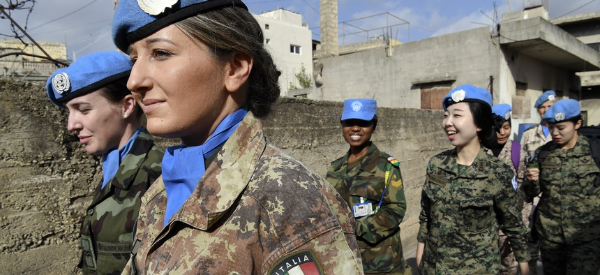 The United Nations Interim Force in Lebanon (UNIFIL) conducted its first all-female foot patrol, with ten female peacekeepers from six troop contributing countries, in Rumaysh, south Lebanon.