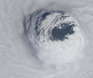 Hurricane Michael's enormous eye, as photographed by the NASA astronaut Serena Auñón-Chancellor.