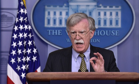 National Security Adviser John Bolton speaks during a briefing at the White House in Washington, Wednesday, Oct. 3, 2018.