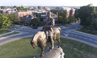 This Tuesday, Aug. 22, 2017, photo shows a view of the statue of Confederate General Robert E. Lee on Monument Avenue in Richmond, Va.