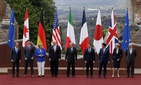A group photo at the G7 summit in the Sicilian citadel of Taormina, Italy, May 27, 2017.