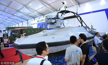 Liaowangzhe-2 is shown at the 12th China International Aviation and Aerospace Exhibition in Zhuhai, South China's Guangdong province, Nov 6, 2018.