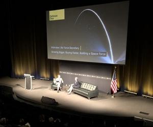 U.S. Air Force Secretary Heather Wilson speaks at the Defense One Summit on Nov. 15, 2018.