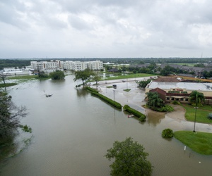 Flooding from Hurricane Harvey in League City, Texas