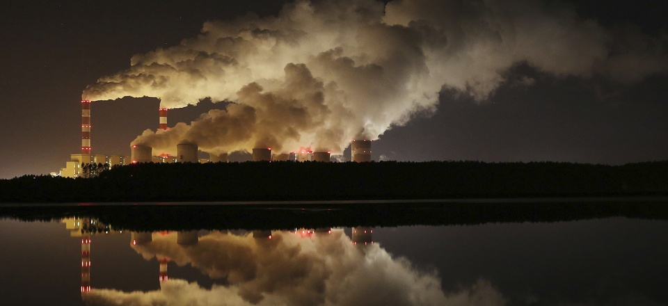 In this Wednesday, Nov. 28, 2018 file photo, plumes of smoke rise from Europe's largest lignite power plant in Belchatow, central Poland.