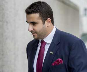 Prince Khalid bin Salman, seen here in July 2017, is facing calls from U.S. senators for his expulsion.