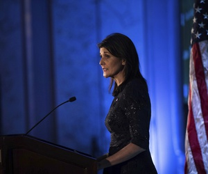 U.S. Ambassador Nikki Haley speaks during the Hudson Institute's 2018 Award Gala Monday, Dec. 3, 2018, in New York.