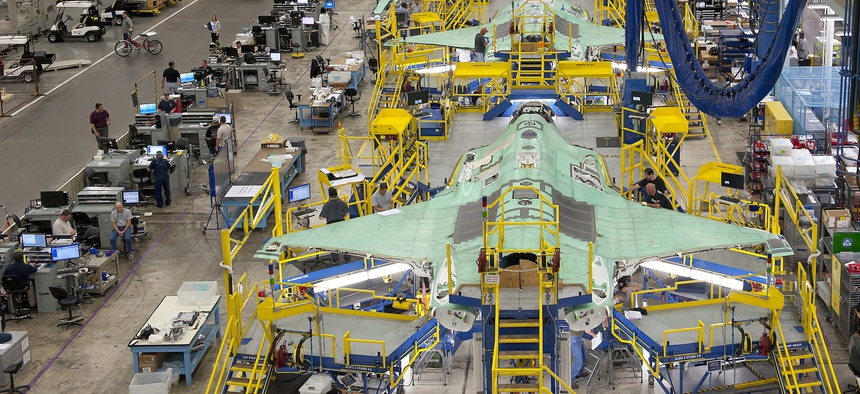 F-35 assembly line, Fort Worth, Texas
