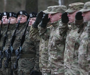 U.S. Army soldiers are welcomed in Zagan, Poland, Thursday, Jan. 12, 2017.
