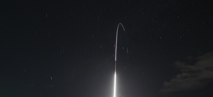 This Monday, Dec. 10, 2018 photo provided by the U.S. Missile Defense Agency (MDA) shows the launch of the U.S. military's land-based Aegis missile defense testing system, that later intercepted an intermediate range ballistic missile, from the Pacific Mi