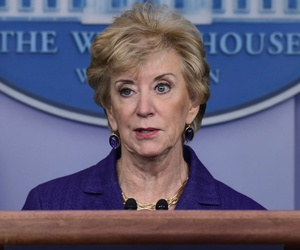 Small Business Administration administrator Linda McMahon has been asked to outline the steps she is taking to minimize damage from the shutdown.