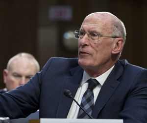Director of National Intelligence Daniel Coats testifies before the Senate Intelligence Committee on Capitol Hill in Washington Tuesday, Jan. 29, 2019.