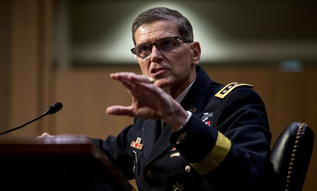U.S. Central Command Commander Gen. Joseph Votel speaks at a Senate Armed Services Committee hearing on Capitol Hill, Tuesday, Feb. 5, 2019, in Washington.