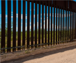 The border of U.S. and Mexico in Arizona.