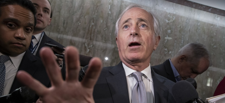 Senate Foreign Relations Committee Chairman Bob Corker, R-Tenn., pictured here on Capitol Hill on Dec. 6, 2018, is among the senior GOP lawmakers who oppose INF withdrawal.