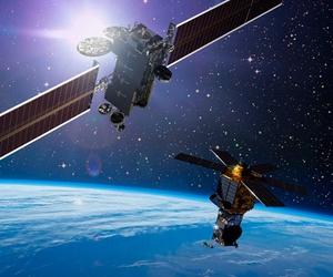 A Lockheed Martin commercial satellite.