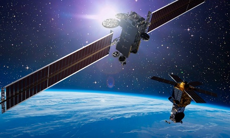 A Lockheed Martin commercial satellite.