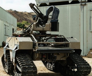 Multipurpose Unmanned Tactical Transport (MUTT) Robot used by the U.S. Marine Corps.