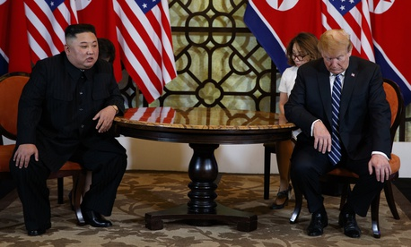 President Donald Trump meets North Korean leader Kim Jong Un, Thursday, Feb. 28, 2019, in Hanoi.