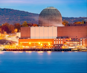Nuclear reactor on the Hudson River, north of New York City.