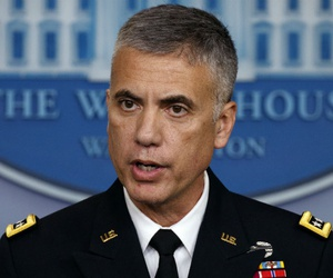 National Security Agency Director Gen. Paul Nakasone speaks during the daily press briefing at the White House Aug. 2.