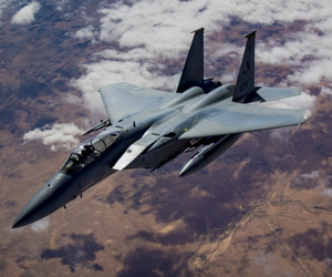 A U.S. Air Force F-15C Eagle, an earlier variant of the proposed F-15EX, flies in support of Combined Joint Task Force – Operation Inherent Resolve Feb. 11, 2019.