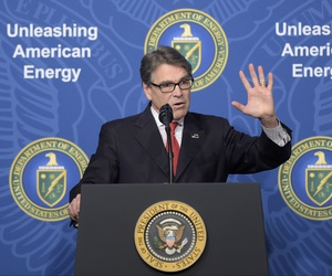 Energy Secretary Rick Perry speaks at the Department of Energy in Washington, Thursday, June 29, 2017.