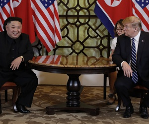 President Donald Trump meets North Korean leader Kim Jong Un, Thursday, Feb. 28, 2019, in Hanoi.
