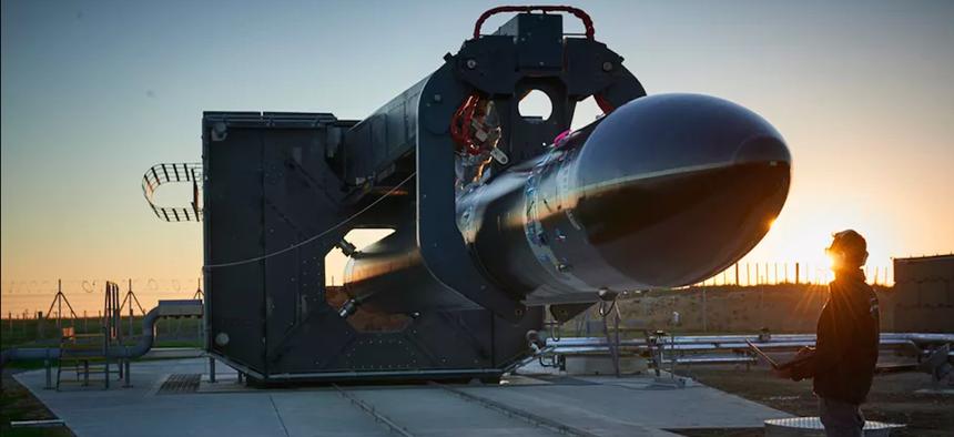 "The ""Electron"" rocket from New Zealand-based rocket company Rocket Lab"