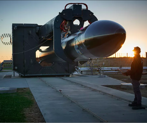 "The ""Electron"" rocket from New Zealand-based rocket company Rocket Lab"