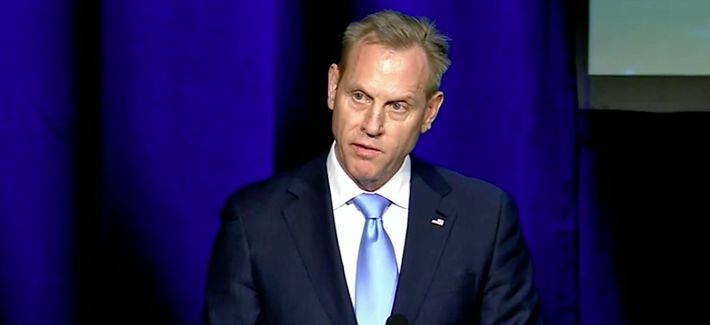 Acting Defense Secretary Patrick Shanahan speaks at the 35th Space Symposium.