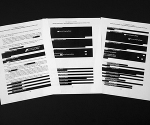 Special counsel Robert Mueller's redacted report on the investigation into Russian interference in the 2016 presidential election is photographed Thursday, April 18, 2019, in Washington.