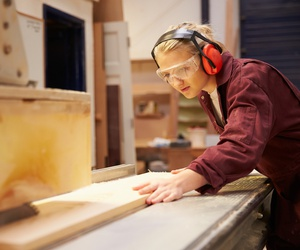 A program in Oregon is teaching girls carpentry and construction skills.