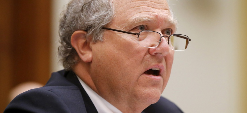 In this June 10, 2014, file photo, John F. Sopko, Special Inspector General for Afghanistan Reconstruction (SIGAR), testifies on Capitol Hill in Washington before the House Foreign Affairs subcommittee on the Middle East and North Africa