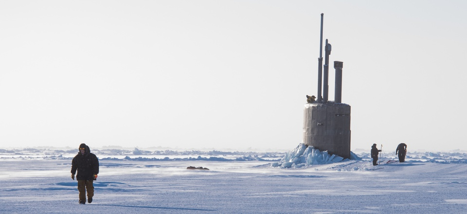 Seawolf-class submarine The Seawolf-class fast-attack submarine USS Connecticut (SSN 22) breaks though the ice in the Beaufort Sea in support of Ice Exercise (ICEX) 2018.