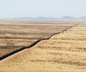A section of the wall in Arizona is shown in 2011.
