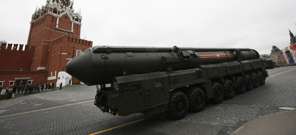 In this Tuesday, May 9, 2017 file photo, Russian Topol M intercontinental ballistic missile launcher rolls along Red Square during the Victory Day military parade to celebrate 72 years since the end of WWII and the defeat of Nazi Germany.